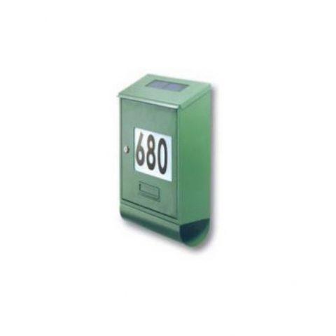 cassetta postale solare verde