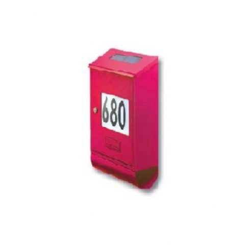 cassetta postale solare rossa