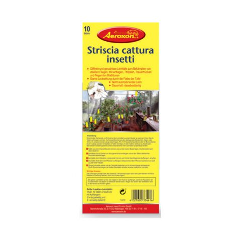 strisce adesive cattura insetti da attaccare alle piante (grande)