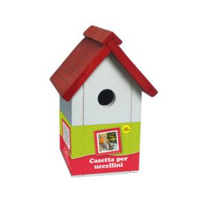 casetta per uccelli bianca-rossa